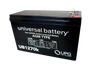 12 Volts 7Ah -Terminal F1 - SLA/AGM Battery - Angle View | Battery Specialist Canada