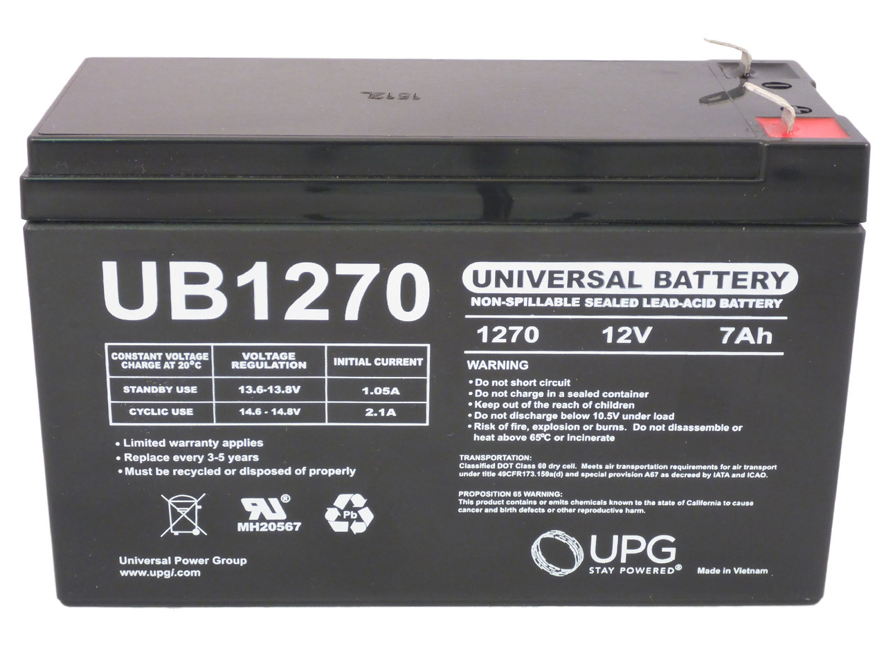 PS700RM 12V 7.2Ah F2 Replacement Battery Set for Liebert PS 700RM