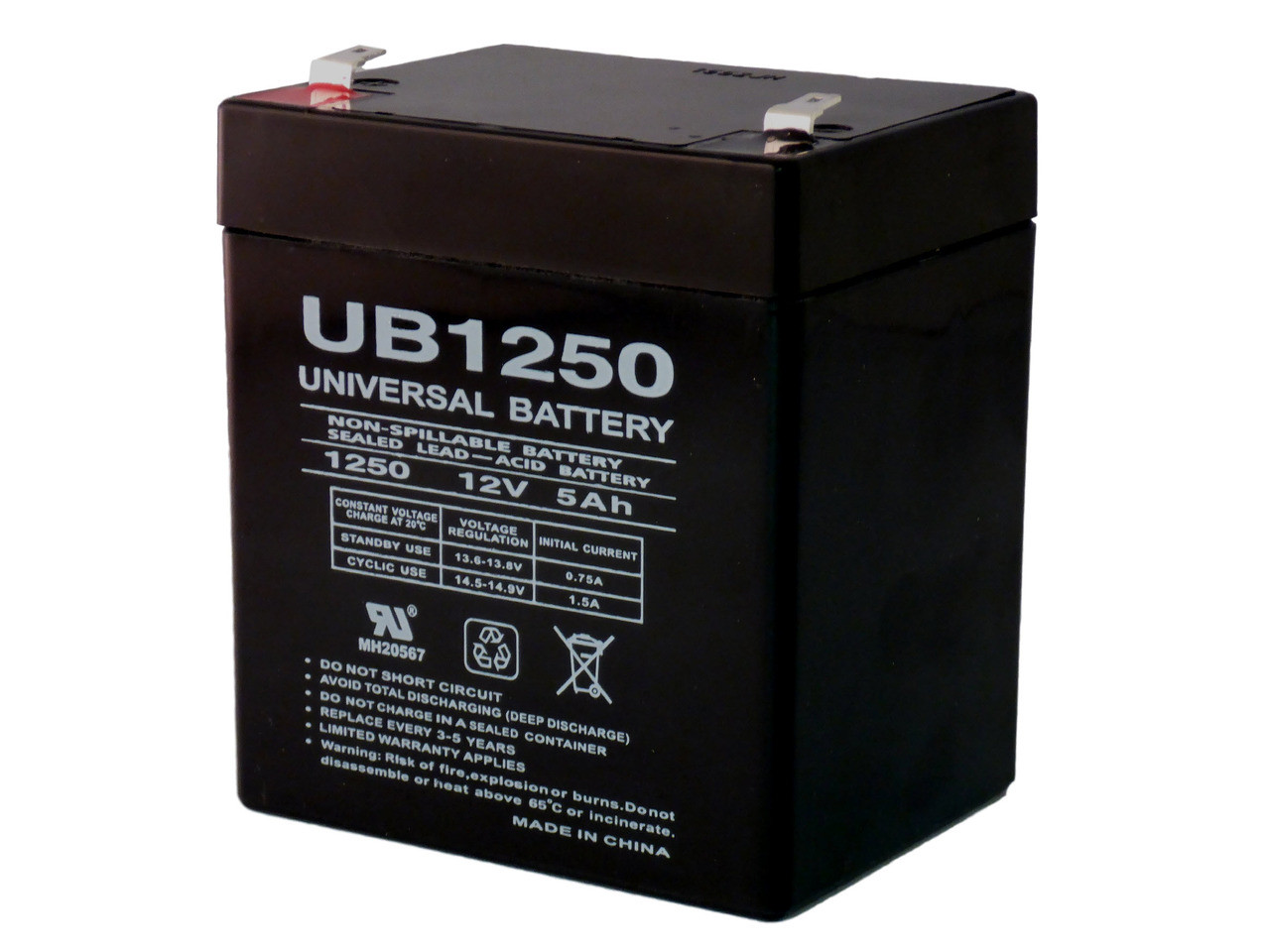 Battery Replaces Access Battery SLA1250 SLA 12V 5Ah F1 Sealed Lead Acid