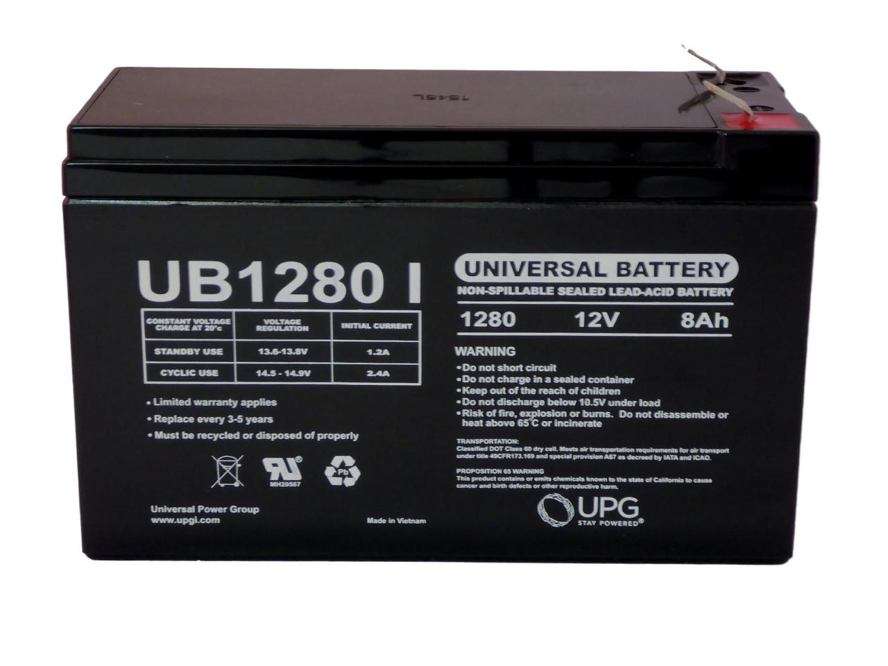 CSB XTV1272, XTV 1272 12V 8Ah UPS Battery