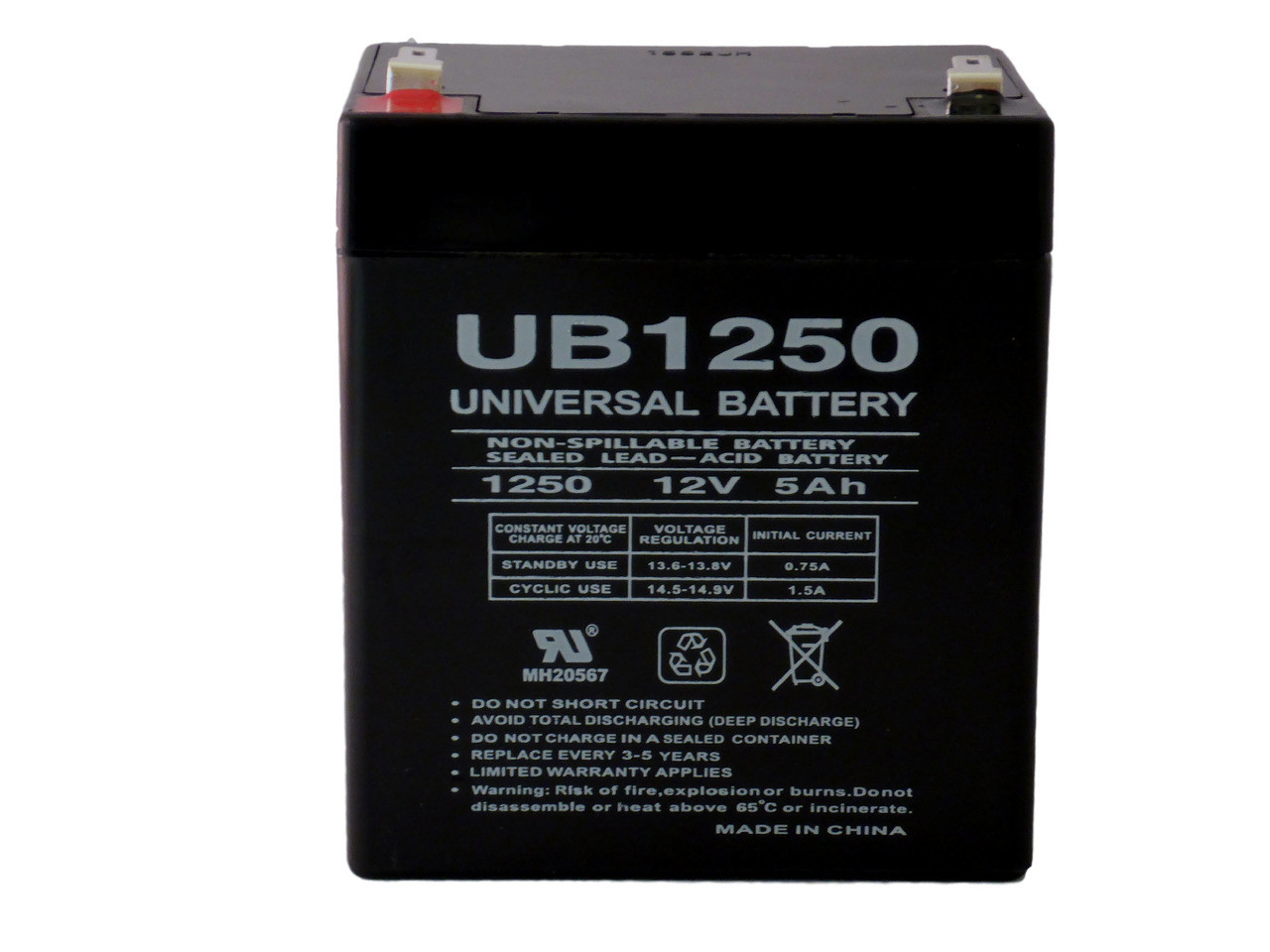 Ansul A15604 12V 5Ah Alarm Battery