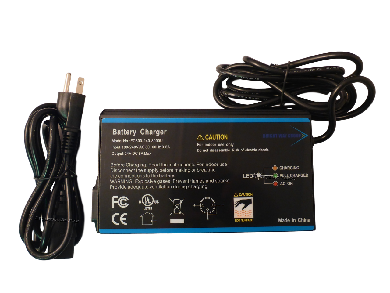 CBK New 24V 4A XLR Mobility Battery Charger for Scooter Jazzy Power Chair