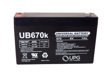 6 Volts 7Ah -Terminal F1 - SLA/AGM Battery - UB670 Front View | Battery Specialist Canada