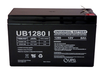 12 Volts 8Ah -Terminal F1 - SLA/AGM Battery - UB1280 Front | batteryspecialist.ca