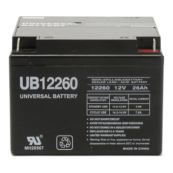 UB12260 - 12 Volts 26Ah -Terminal T3 - SLA/AGM Battery Front   Battery Specialist Canada