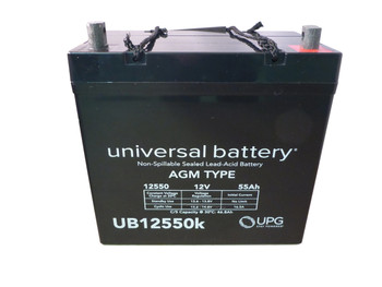12 Volts 55Ah -Terminal Z1 - SLA/AGM Battery - UB12550 - Group 22NF Top View| batteryspecialist.ca