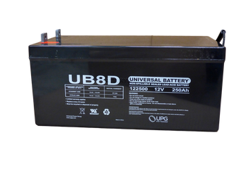 12 Volts 250Ah -Terminal L4 - UB-8D AGM | Battery Specialist Canada