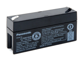 Panasonic SLA Battery - LC-R061R3P - 6V 1.3Ah - Terminal Size 0.187 | Battery Specialist Canada