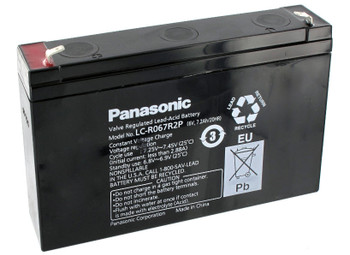 Panasonic SLA Battery -LC-R067R2P - 6V 7.2AH - Terminal Size 0.187 | Battery Specialist Canada