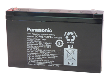 Panasonic SLA Battery LC-R067R2P1 - Side | batteryspecialist.ca