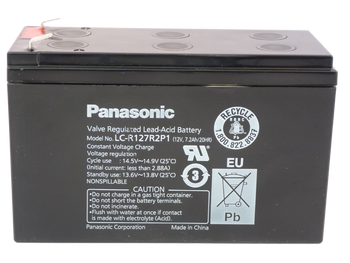 Premium Panasonic SLA Battery - LC-R127R2P1 Side | Battery Specialist Canada