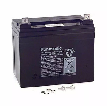 Panasonic SLA Battery - LC-R1233P - 12V 33Ah - Terminal Nut & Bolt | Battery Specialist Canada