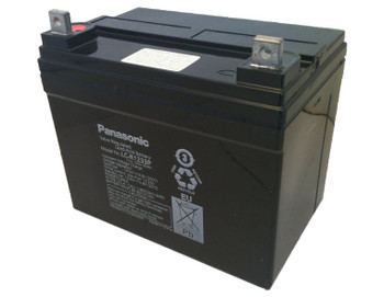 Panasonic SLA Battery - LC-R1233P - 12V 33Ah - Terminal Nut & Bolt Side | Battery Specialist Canada