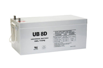 12 Volts 250Ah - Terminal L4 - Gel Battery - UB-8D GEL (UPG40702) | Battery Specialist Canada