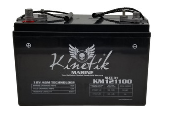 KM121100 - 12V 110Ah - SLA Battery With Marine / Post Terminal | Battery Specialist Canada