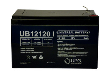 12 Volts 12Ah -Terminal F2 - SLA/AGM Battery - UB12120 Side| batteryspecialist.ca