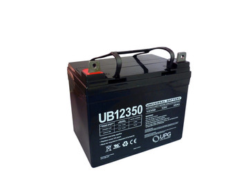 12V 35Ah AGM Sealed Lead Acid Battery UB12350 Group U1 Angle View| Battery Specialist Canada