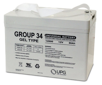UB12600 Group 34 Gel Battery Front | Battery Specialist Canada