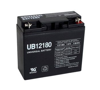 12 Volt Battery - 18 Amp Side View | Battery Specialist Canada