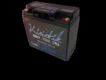 Kinetik BLU 600 Watt 12V 18Ah Power Cell - HC600-BLU Side View | Battery Specialist Canada