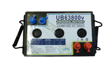UB63800 - 6V 380Ah Battery Top View | batteryspecialist.ca