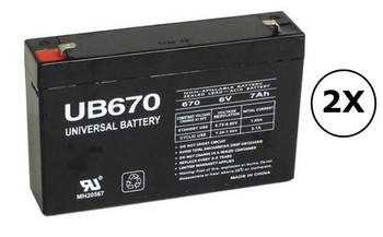 RBC18 Universal Battery - 6 Volts 7Ah - Terminal F1 - UB670 - 2 Pack| Battery Specialist Canada