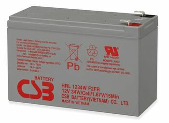 RBC115 High Rate HRL1234WF2FR - CBS Battery - Terminal F2 - 12 Volt 9.0Ah - 34 Watts Per Cell