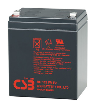 F6C1000ei-TW-RK High Rate CSB Battery - 12 Volts 5.1Ah - 21 Watts Per Cell - Terminal F2  - 2 Pack| Battery Specialist Canada