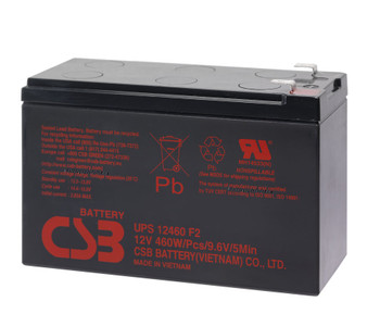 F6C1500-TW-RK CSB Battery - 12 Volts 9.0Ah - 76.7 Watts Per Cell -Terminal F2 - UPS12460F2 - 2 Pack| Battery Specialist Canada