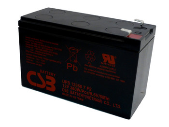 F6C525-SER UPS CSB Battery - 12 Volts 7.5Ah - 60 Watts Per Cell - Terminal F2 - UPS123607F2| Battery Specialist Canada