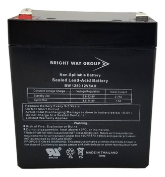 F6C900fcUNV Universal Battery - 12 Volts 5Ah - Terminal F2 - UB1250 Front   Battery Specialist Canada