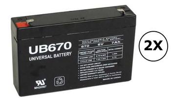 UR500RM1U Universal Battery - 6 Volts 7Ah - Terminal F1 - UB670 - 2 Pack| Battery Specialist Canada