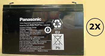 8040B Panasonic Battery - 6 Volts 7.2Ah - Terminal F2 - LC-R067R2P1 - 2 Pack| Battery Specialist Canada