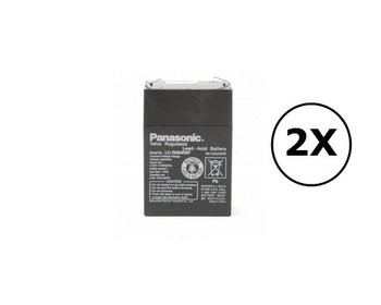 BC250 Panasonic Battery - 6V 4.5Ah - Terminal Size 0.187 - LC-R064R5P - 2 Pack| Battery Specialist Canada