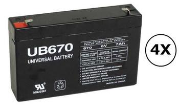 SMART1000RM1U Universal Battery - 6 Volts 7Ah - Terminal F1 - UB670 - 4 Pack| Battery Specialist Canada