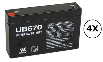SMART500RM1U Universal Battery - 6 Volts 7Ah - Terminal F1 - UB670 - 4 Pack| Battery Specialist Canada