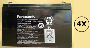 SMART750RM1U Panasonic Battery - 6 Volts 7.2Ah - Terminal F2 - LC-R067R2P1 - 4 Pack| Battery Specialist Canada