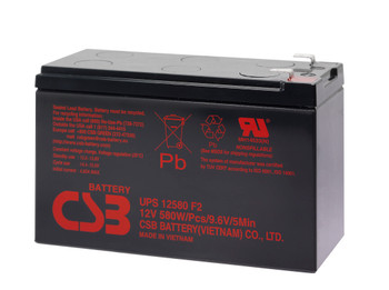 Liebert GXT 2100RT-60 CBS Battery - Terminal F2 - 12 Volt 10Ah - 96.7 Watts Per Cell - UPS12580 - 8 Pack| Battery Specialist Canada