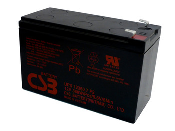Liebert PS 700RM UPS CSB Battery - 12 Volts 7.5Ah - 60 Watts Per Cell -Terminal F2  - UPS123607F2 - 2 Pack| Battery Specialist Canada