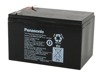 Liebert PSA 700  Panasonic Battery - 12V 12Ah - Terminal Size 0.25 - LC-RA1212P1