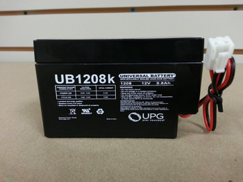 "ELK 1208J2 12V 0.8Ah Replacement Battery - 12 Volts 0.8Ah - w/JST Connector - 8.5"" Wire Leads - UB1208 - Image1 