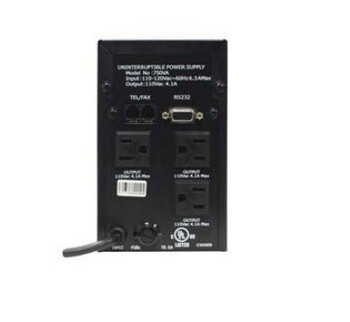 120VAC 650VA Uninterrupted Power Supply - 41300 - Back View | Battery Specialist Canada