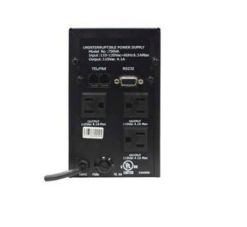 120VAC 750VA Uninterrupted Power Supply - 41301 - Back View | Battery Specialist Canada