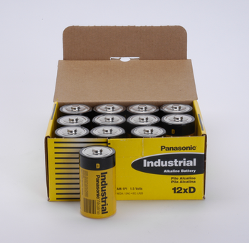 D Batteries - 72 Pack - Panasonic Industrial Alkaline Batteries - C3788.  Battery Specialist Canada