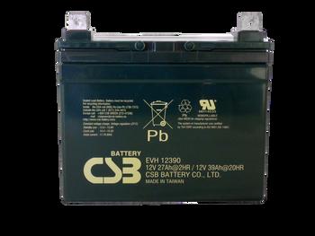 EVH12390 - 12V 39Ah CSB Battery Front | batteryspecialist.ca