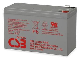 RBC124 UPS HRL1234WF2FR - CBS Battery - Terminal F2 - 12 Volt 9.0Ah - 34 Watts Per Cell