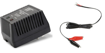 12V Dual-Stage Charger  With Screw Terminals with Alligator Clips | Battery Specialist Canada