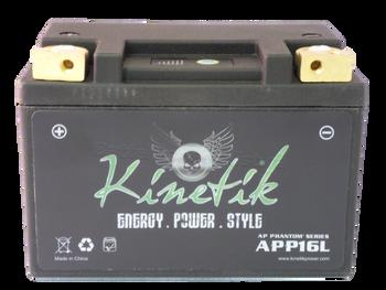 YTX12-BS Kinetik Phantom LiFePO4 Battery Side | Battery Specialist Canada