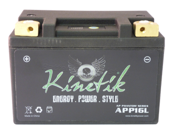 YB12A-A Kinetik Phantom LiFePO4 Battery Side | Battery Specialist Canada