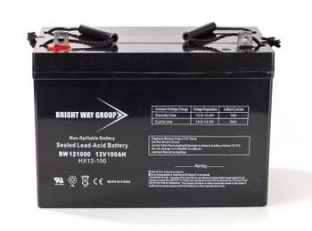 Group 27 Deep Cycle AGM Marine Battery - 12V 100Ah - Nut & Bot Terminal  batteryspecialist.ca